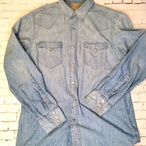 POLO RALPH LAUREN Mens Shirt Size M Chambray
